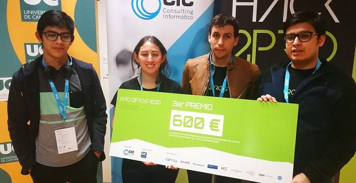 Quatro estudantes da graduação em Engenharia da Computação obtiveram um prêmio no concurso Hack2Progress