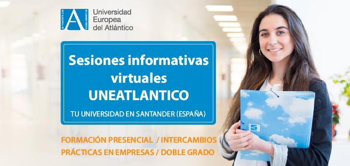 UNEATLANTICO organiza sessões informativo virtual sobre os cursos que se podem estudar no campus