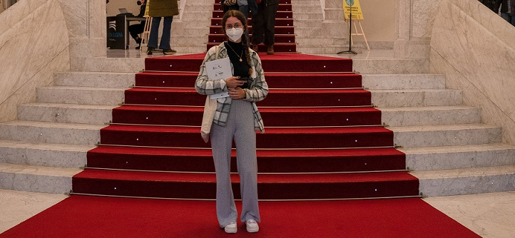 """Uma estudante de Comunicação participou como """"Jurado Joven"""" i do XVIII Festival de Cinema e Direitos Humanos de San Sebastián"""