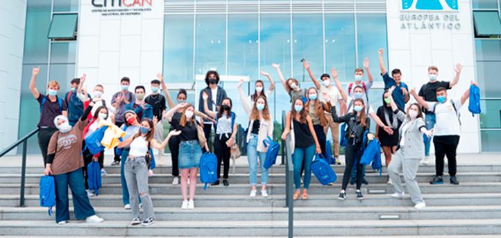 UNEATLANTICO dá as boas-vindas no campus para um grupo de quarenta alunos que farão o programa de mobilidade Erasmus