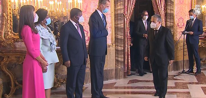 Presidente da FUNIBER esteve presente na recepção real em homenagem ao presidente de Angola, país em que será inaugurada nova universidade